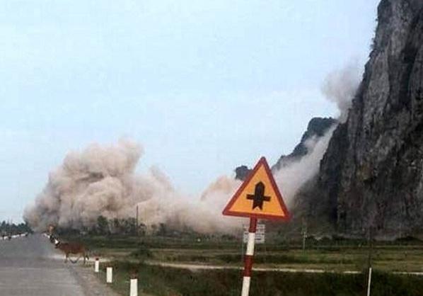 Doanh nghiệp nổ mìn phá đá gây nguy hiểm cho người dân