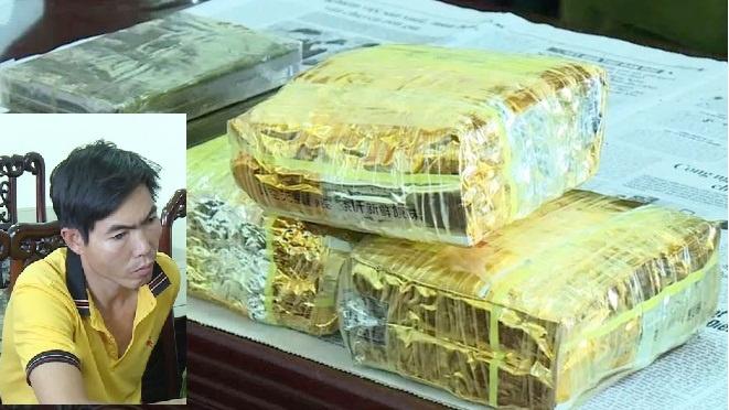Vận chuyển 3kg ma túy đá và 4 bánh Heroin vào Nam tiêu thụ thì bị bắt