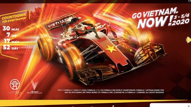 Hà Nội chính thức hoãn chặng đua Công thức 1 (F1)