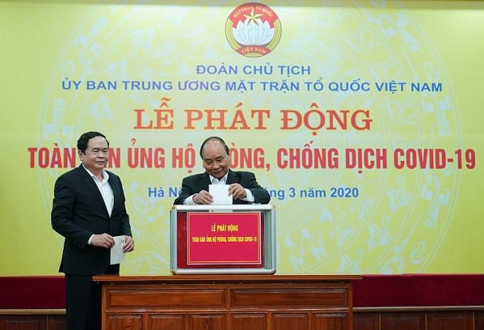 thu tuong nguyen xuan phuc can nhieu hon nua su chia se chung tay dong gop doi voi cong tac phong chong dai dich