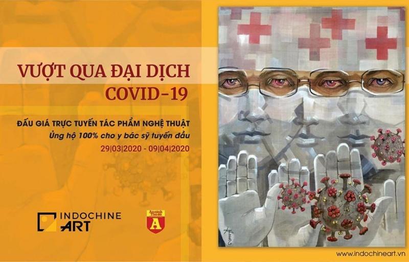 Tổ chức đấu giá tác phẩm nghệ thuật gây quỹ ủng hộ phòng, chống COVID-19