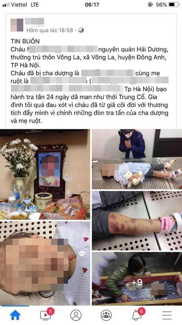 Vụ bé gái tử vong tại Đống Đa (Hà Nội): Khởi tố vụ án 'Giết người'