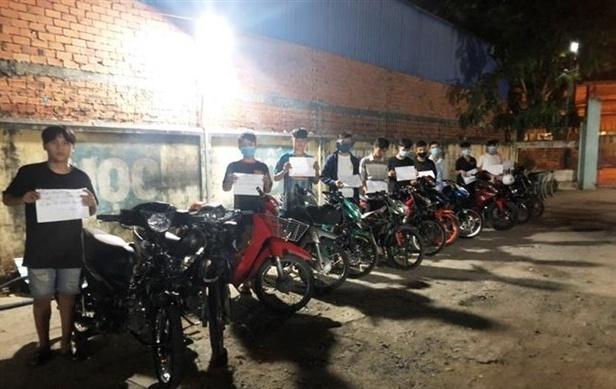 Tây Ninh: Bắt nhóm đối tượng đua xe trái phép, gây mất an ninh trật tự