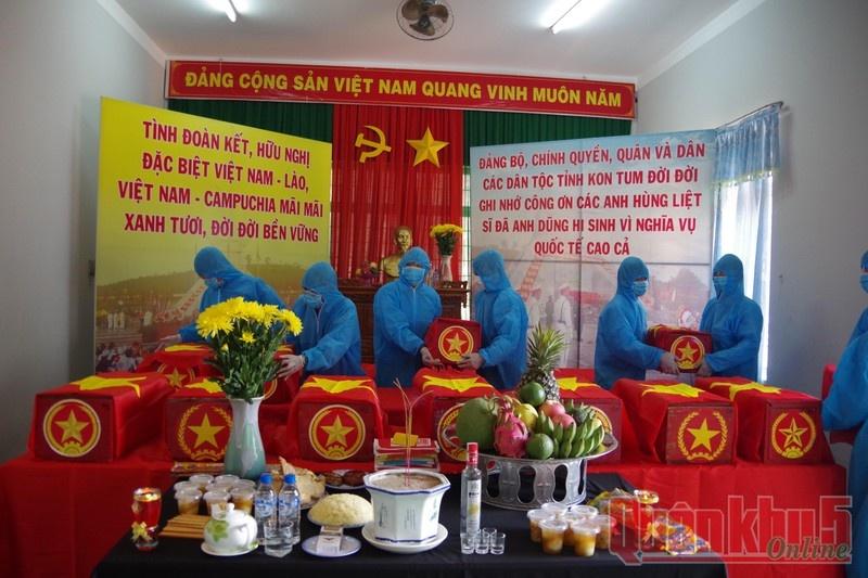 Tìm kiếm, quy tập 21 hài cốt liệt sỹ hy sinh tại Lào và Campuchia
