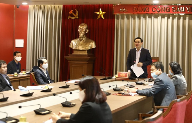Bí thư Thành ủy Hà Nội Vương Đình Huệ: Hà Nội tập trung cao độ đẩy nhanh thực hiện dự án đầu tư công 
