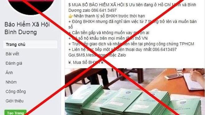 Cảnh báo tình trạng mạo danh tài khoản Facebook của Bảo hiểm xã hội nhằm trục lợi