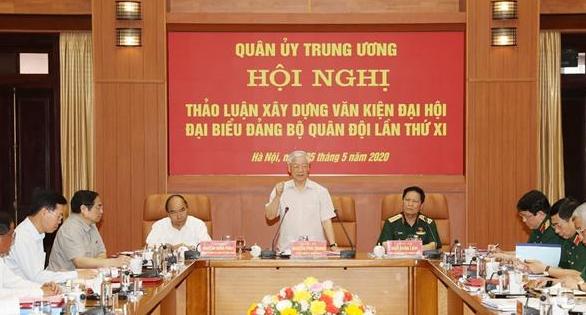 Hội nghị Quân ủy Trung ương cho ý kiến về dự thảo văn kiện Đại hội đại biểu Đảng bộ Quân đội lần thứ XI