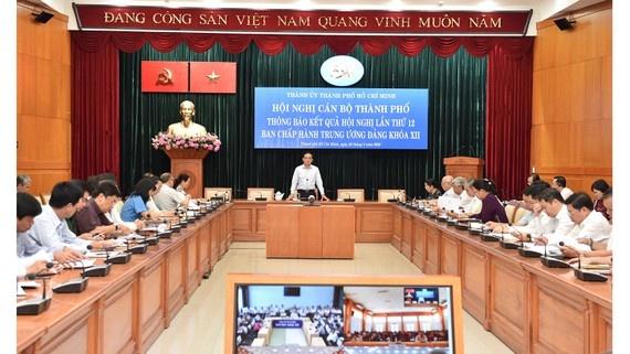 Thành ủy Thành phố Hồ Chí Minh thông báo kết quả Hội nghị Trung ương 12 (khóa XII)