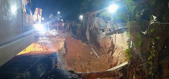 Yên Bái: Sập bờ kè đất làm một người chết, một người bị thương