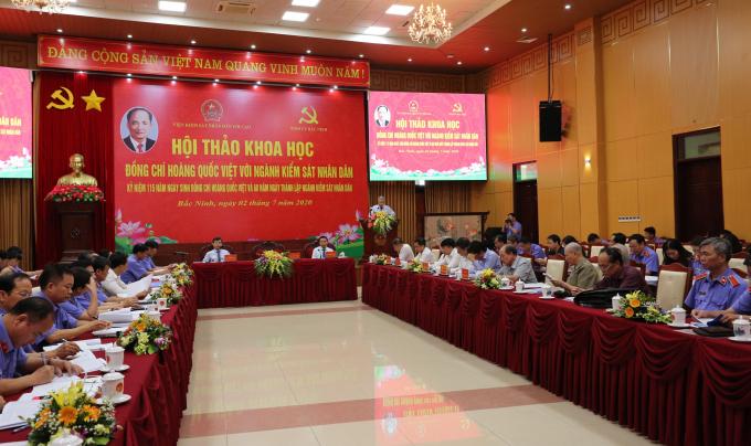 """Hội thảo khoa học """"Đồng chí Hoàng Quốc Việt với ngành Kiểm sát nhân dân"""""""