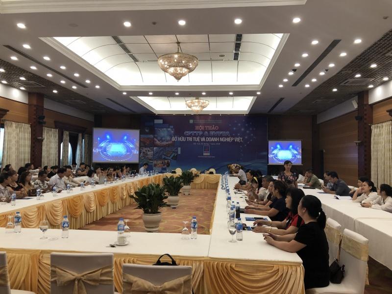 """Hội thảo """"CPTPP & EVFTA: Quyền sở hữu trí tuệ và doanh nghiệp Việt"""""""