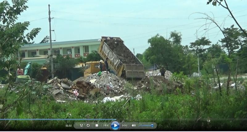 Khu đô thị Thanh Hà của Tập đoàn Mường Thanh có đang dùng rác thải để san lấp trái phép?