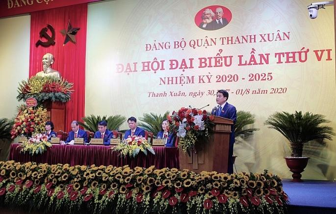 dai hoi dai bieu dang bo quan thanh xuan lan thu vi nhiem ky 2020 2025