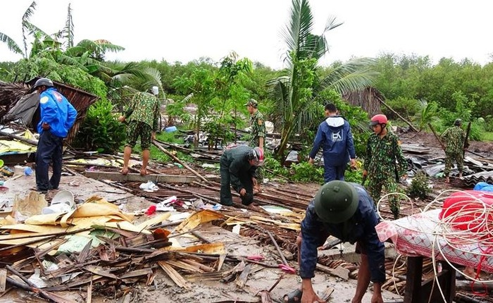 Sóc Trăng: 270 căn nhà và hàng trăm ha lúa màu bị ảnh hưởng do mưa dông