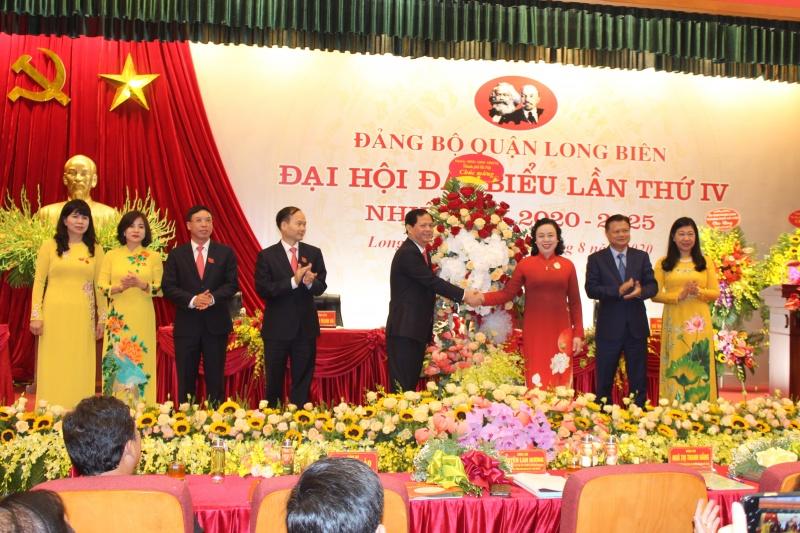 Đại hội đại biểu lần thứ IV Đảng bộ quận Long Biên, nhiệm kỳ 2020-2025