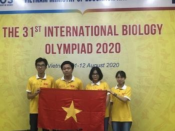 44 hoc sinh viet nam doat giai tai olympic sinh hoc quoc te 2020