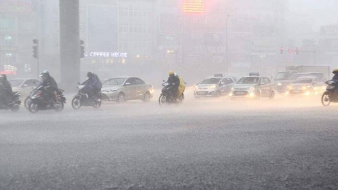 Các tỉnh phía Bắc đêm 22/9 mưa to, đề phòng dông sét và gió giật mạnh
