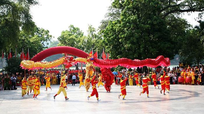13 đội tham gia trình diễn nghệ thuật múa Rồng - Hà Nội năm 2020