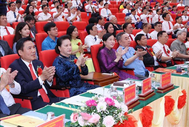 Chủ tịch Quốc hội Nguyễn Thị Kim Ngân dự Đại hội thi đua yêu nước tỉnh Thái Nguyên