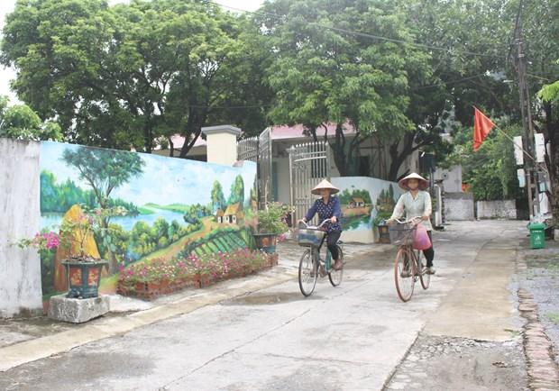 Độc đáo những con đường bích họa tại Ninh Bình
