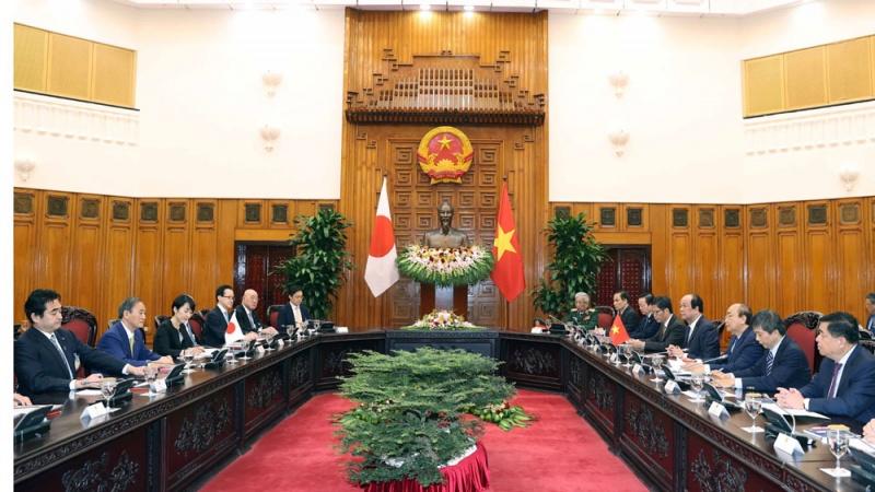 Thủ tướng Chính phủ Nguyễn Xuân Phúc hội đàm với Thủ tướng Nhật Bản Suga Yoshihide