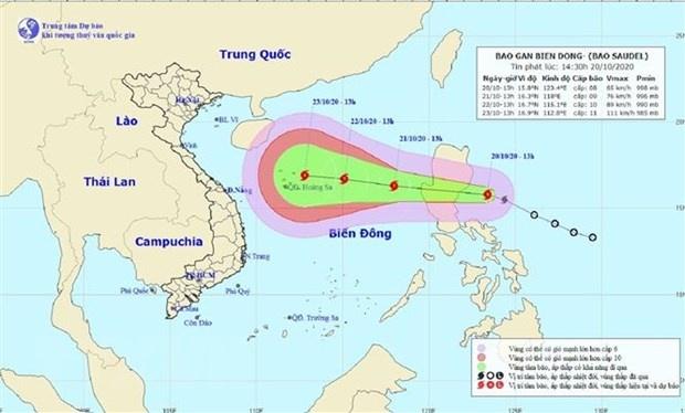 Bão số 8 di chuyển theo hướng Tây Tây Bắc hướng vào biển Đông