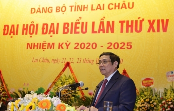 dong chi pham minh chinh du chi dao dai hoi dang bo tinh lai chau lan thu xiv