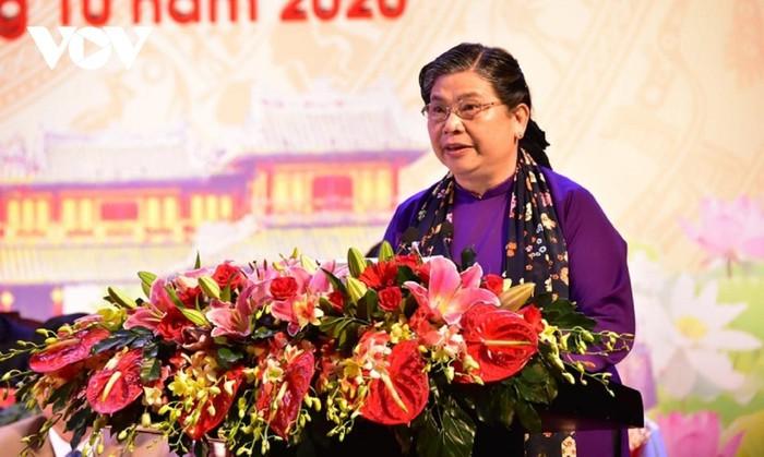 Đồng chí Tòng Thị Phóng dự và chỉ đạo Đại hội đại biểu Đảng bộ tỉnh Thừa Thiên – Huế lần thứ XVI