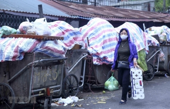 xe da co the van chuyen rac vao khu lien hiep xu ly chat thai nam son