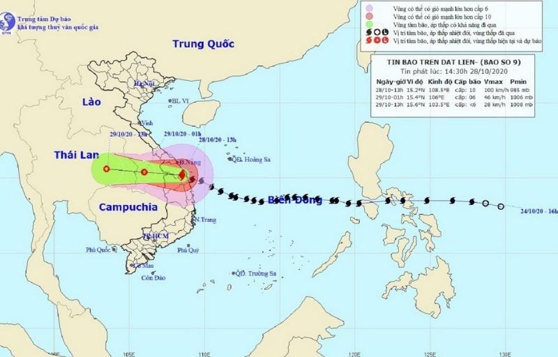 Bão số 9 suy yếu thành áp thấp nhiệt đới, lũ đặc biệt lớn trên sông khu vực Trung Bộ