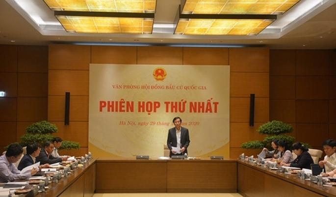 phien hop thu nhat van phong hoi dong bau cu quoc gia