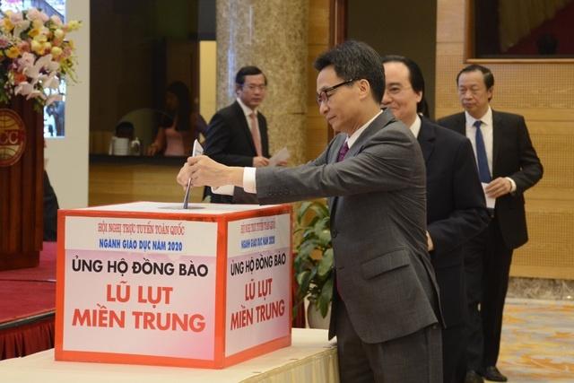 Bộ Giáo dục và Đào tạo kêu gọi ủng hộ thầy và trò miền Trung