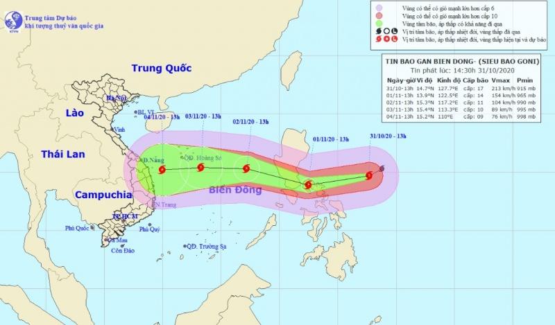 Siêu bão Goni gần Biển Đông