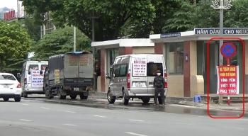 tai dien tinh trang xe tai xe khach nhan cho hang long hanh quanh khu vuc ben xe my dinh