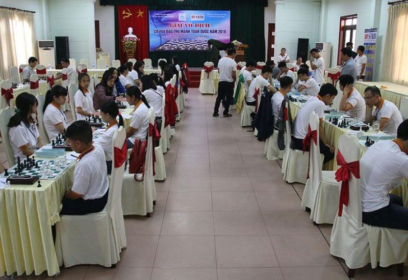 Gần 100 kỳ thủ tranh tài ở Giải vô địch cờ vua các đấu thủ mạnh toàn quốc