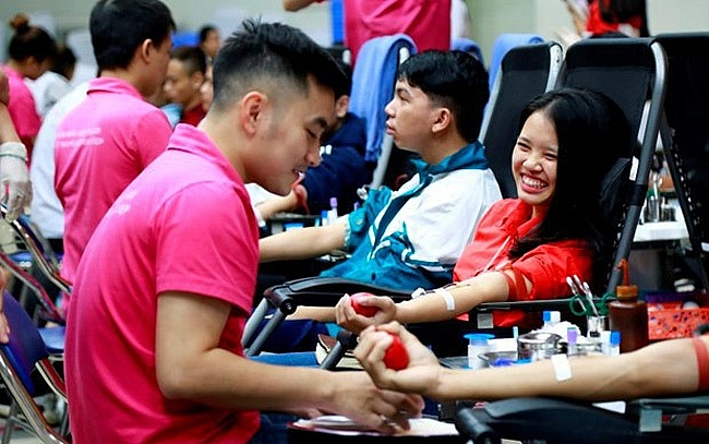 festival trai tim nhan ai 2019 thu hut khoang 500 nguoi tinh nguyen hien mau