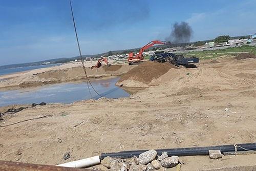 Bình Thuận: Dừng nạo vét cửa biển Phan Rí do có nhiều sai phạm