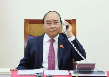 thu tuong nguyen xuan phuc dien dam voi thu tuong lao thongloun sisoulith