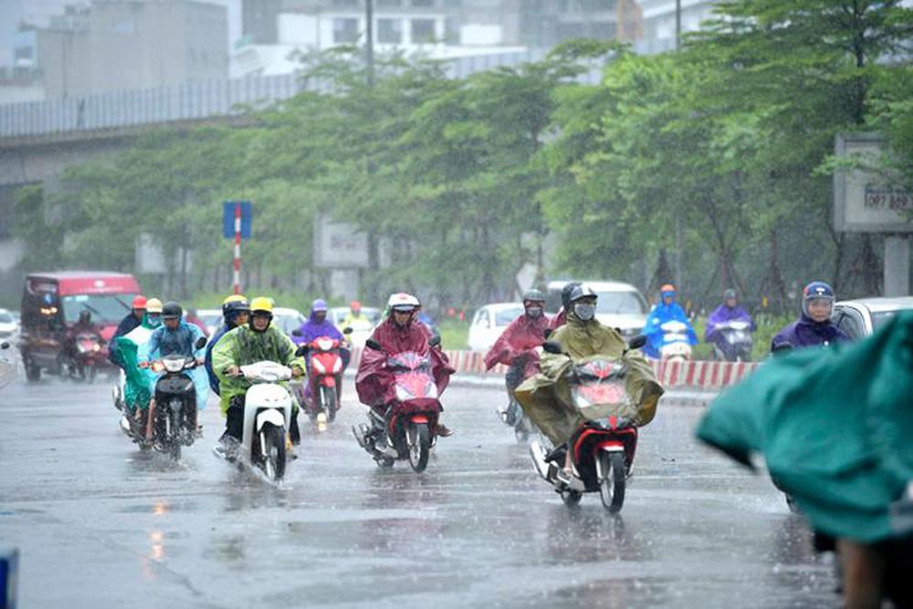 Các khu vực trên cả nước đều có mưa