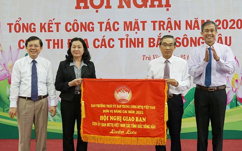 Tổng kết công tác mặt trận Cụm thi đua các tỉnh Bắc Sông Hậu