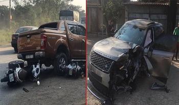 Hà Nội: Tai nạn giao thông liên hoàn khiến 2 người bị thương