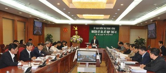 Kỳ họp 41 của Ủy ban Kiểm tra Trung ương: Kiểm tra khi có dấu hiệu vi phạm đối với Ban Thường vụ Đảng ủy Tổng Công ty Thép Việt Nam