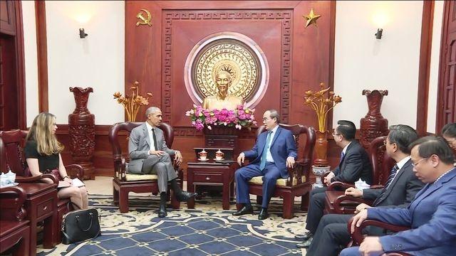 Bí thư Thành ủy Thành phố Hồ Chí Minh tiếp cựu Tổng thống Hoa kỳ Barack Obama