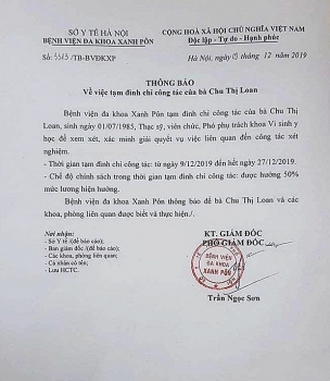 Hà Nội: Đình chỉ 3 cán bộ, nhân viên y tế liên quan đến vụ gian lận xét nghiệm HIV tại Bệnh viện đa khoa Xanh Pôn