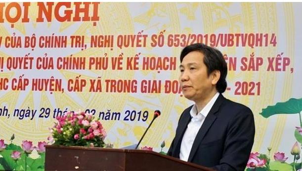 """Xây dựng Đảng và hệ thống chính trị: Thứ trưởng Trần Anh Tuấn: """"Sáp nhập huyện, xã - tư duy """"mất ghế"""" đã cũ và cổ quá rồi"""""""