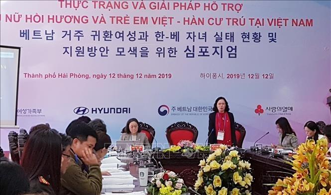 Hỗ trợ phụ nữ hồi hương và trẻ em Việt-Hàn cư trú tại Việt Nam