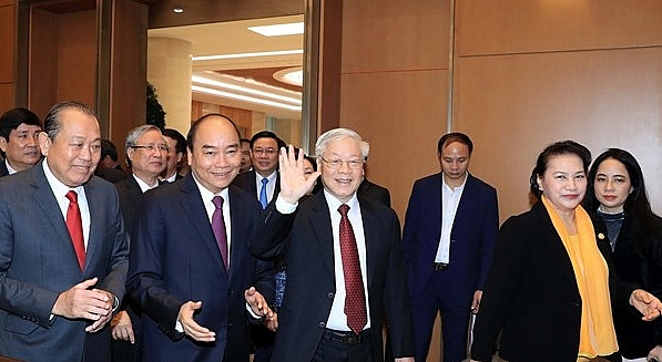 tai hoi nghi chinh phu voi cac dia phuong tong bi thu chu tich nuoc nguyen phu trong nam 2020 lai phai dat nhieu thanh tich va tien bo hon nam 2019