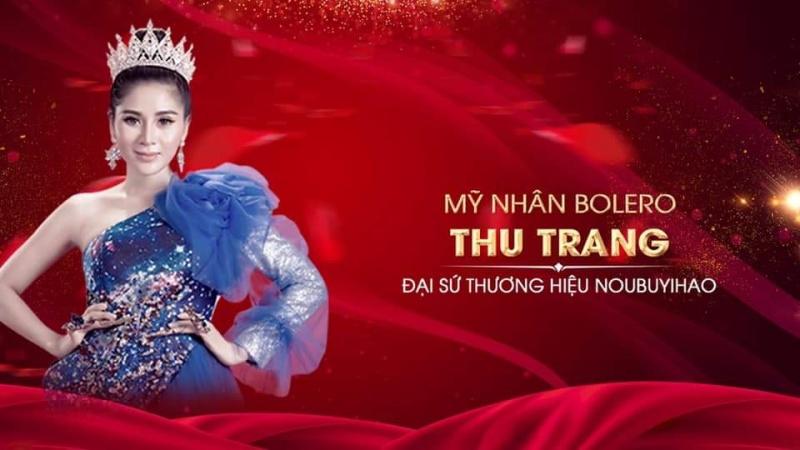 Ca sĩ Thu Trang Bolero làm đại sứ thương hiệu mỹ phẩm Nuobuyihao