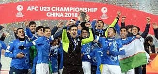 truc tiep le trao cup vo dich va cac giai ca nhan u23 afc championship 2018