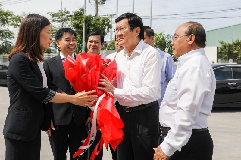 Nguyên Chủ tịch Nước Trương Tấn Sang thăm Công ty Cách âm, cách nhiệt Phương Nam